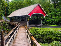 Flume Covered Bridge Stock Image