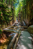 Flume Gorge in Franconia Notch State Park, New Hampshire Royalty Free Stock Photos