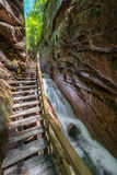 Flume Gorge in Franconia Notch State Park, New Hampshire Royalty Free Stock Photography