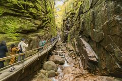Flume gorge in Franconia Notch State Parke