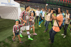 Fluminense x格雷米奥队 库存照片