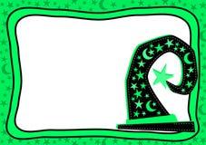 Fluo Green Halloween Card Royalty Free Stock Photos
