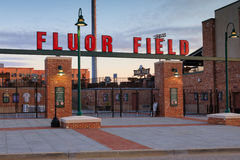 Fluor Field Greenville South Carolina. Fluor Field baseball stadium, modeled after Fenway Park, holds 5,700 patrons and is located in the West End of Greenville Stock Image