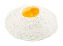 Fluor volcano. Two eggs on a fluor volcano Stock Photo