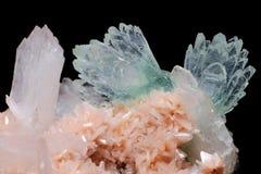 Fluorapophyllite from Aurangabad, Maharashtra, India Stock Photography