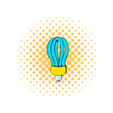 Fluorescence lamp icon, comics style Royalty Free Stock Photography