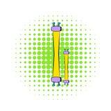 Fluorescence lamp icon, comics style Royalty Free Stock Photos