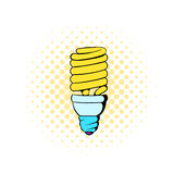 Fluorescence lamp icon, comics style Royalty Free Stock Images