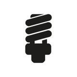 Fluorescencyjna żarówki ikona w płaskim projekcie na białym tle ilustracji