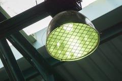 Fluorescencyjne żarówki w gym Zdjęcie Stock