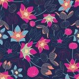 Fluorescencyjni kwiaty Obraz Royalty Free