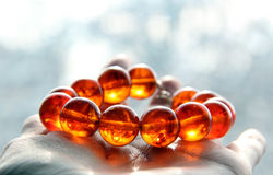 Fluorescent Amber Bracelet royalty free stock images