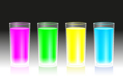 Fluorescent Beverages Stock Images