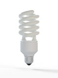 Fluorescent Bulb. 3d render of fluorescent bulb on white background Stock Images