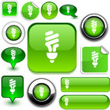 Fluorescent bulb green signs. Royalty Free Stock Photos