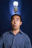 Fluorescent Bulb Idea Royalty Free Stock Image