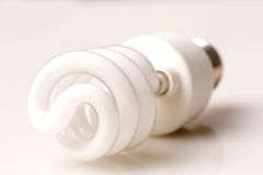 Fluorescent CFL bulb, closeup shot Royalty Free Stock Photography