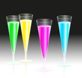 Fluorescent Champagne Royalty Free Stock Photos