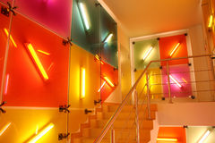 Fluorescent color interior Royalty Free Stock Photo