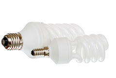 Fluorescent daylight bulbs Stock Image