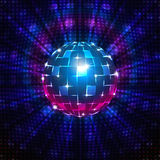 Fluorescent disco ball Stock Photography