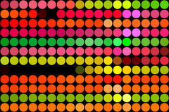 Fluorescent dots Stock Images