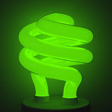 Fluorescent Green Lamp. Energy Saving Stock Images