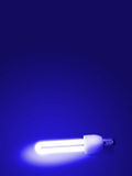 Fluorescent lamp. With Blue background Stock Image