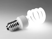 Fluorescent lamp bulb Royalty Free Stock Images