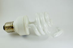 Fluorescent lamp crack Stock Image