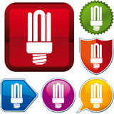 Fluorescent lamp icon Stock Images