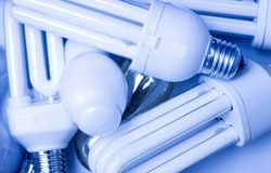 Fluorescent lamps Stock Photo