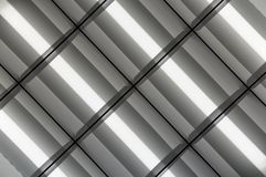 Fluorescent Lamps Lighted Royalty Free Stock Photos