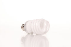 Fluorescent Light Bulb. Isolated image of a fluorescent light bulb Stock Photo