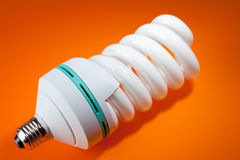 Fluorescent light bulb Stock Photo