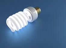 Fluorescent light bulb Royalty Free Stock Photography