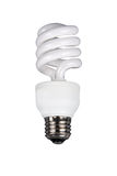 Fluorescent light bulb. Milky fluorescent light bulb isolated on a white background stock photos