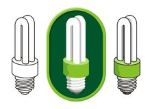 Fluorescent light bulb Royalty Free Stock Photography