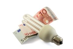 Fluorescent Light Bulb Royalty Free Stock Image