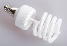 Fluorescent light bulb Royalty Free Stock Images