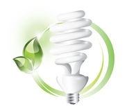 Fluorescent lightbulb Stock Image