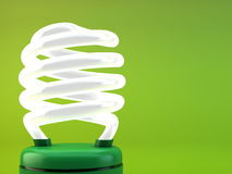 Fluorescent light bulb - close up Royalty Free Stock Photo
