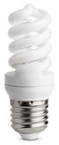 Fluorescent light bulb Stock Photography