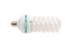 Fluorescent Light Bulb energy saving isolated Stock Image