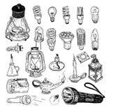 Fluorescent Light Bulb icon - vector illustration. Royalty Free Stock Photos
