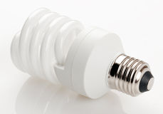 Fluorescent light bulb Stock Image