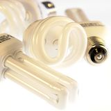 Fluorescent Light Bulbs Royalty Free Stock Images