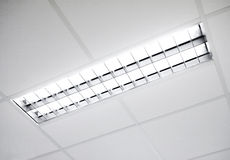 Fluorescent light fixture Stock Photos
