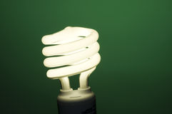 Fluorescent Light on Green. Horizontal image of fluorescent light on green background Royalty Free Stock Images