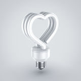 Fluorescent light. In heart shape Stock Photography